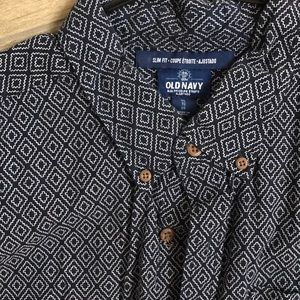 Old Navy Shirts - Short Sleeved Casual Dress Shirt